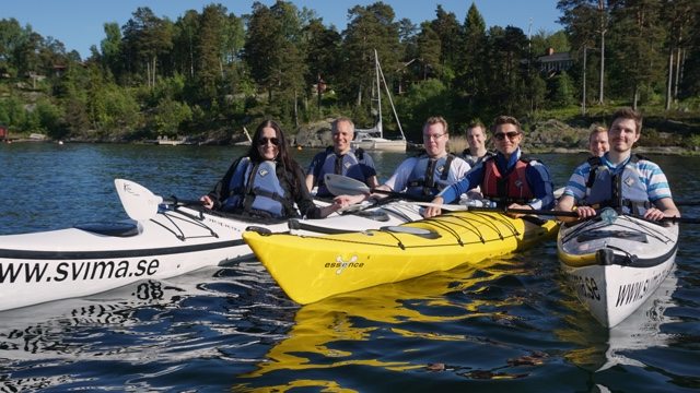 Recommit paddle kayaks at Djurönäset
