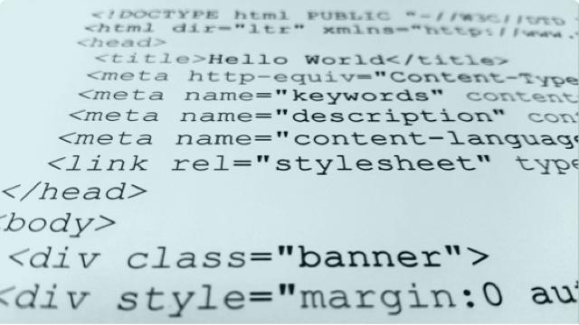 Systemutveckling med HTML-kod